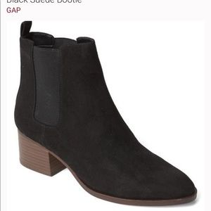 Gap black suede boots booties 7